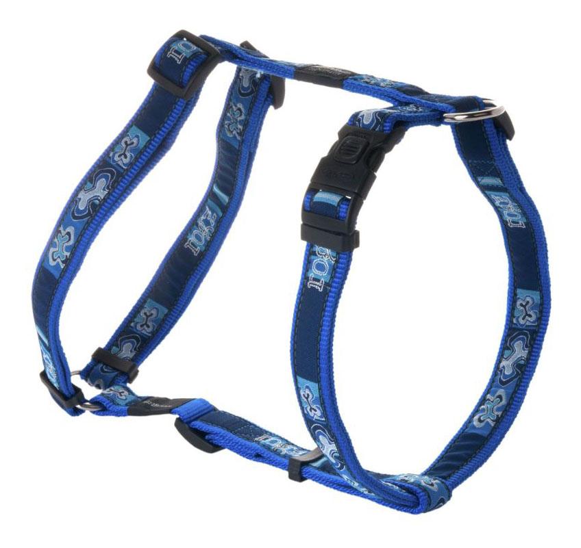 Шлейка для собак Rogz Fancy Dress XL-25мм (Синий SJ02BP)