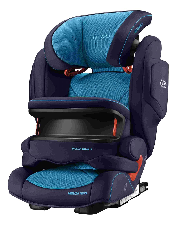 Купить Автокресло RECARO Monza Nova IS Seatfix группа 1/2/3, Темно-Синий, Черный, Детские автокресла