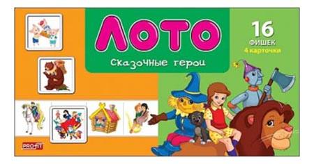 Купить Семейная настольная игра Лото Рыжий Кот Сказочные герои, Рыжий кот, Семейные настольные игры