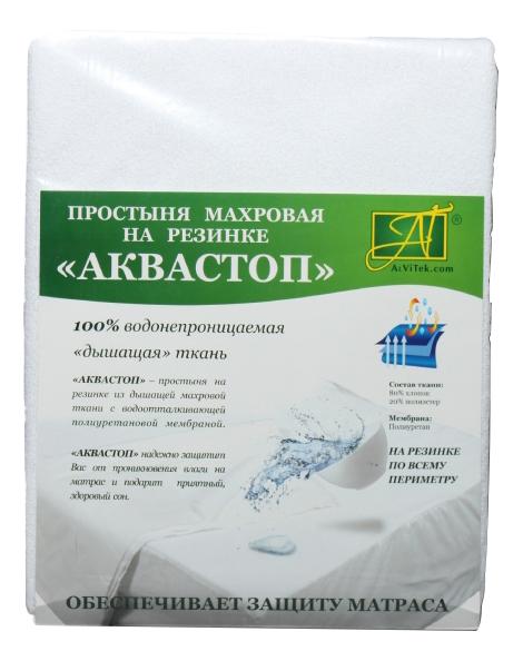 Простыня АльВиТек аквастоп 140х200+25 см белый