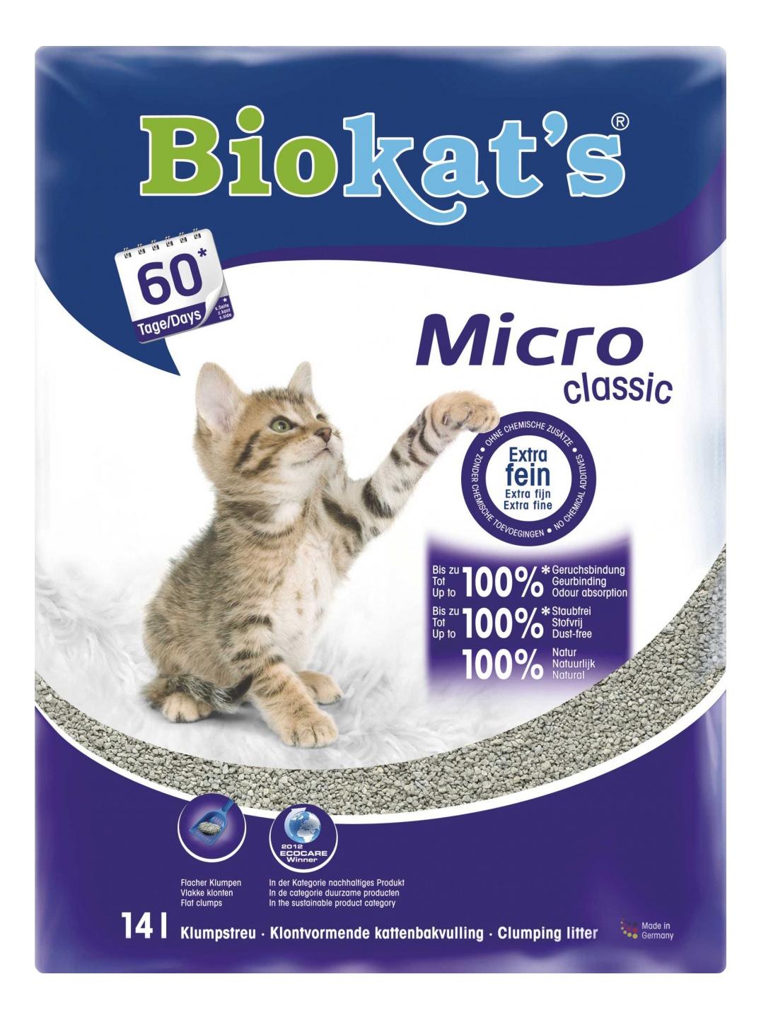 Комкующийся наполнитель для кошек Biokat's Micro Classic бентонитовый, 13.3 кг, 14 л фото