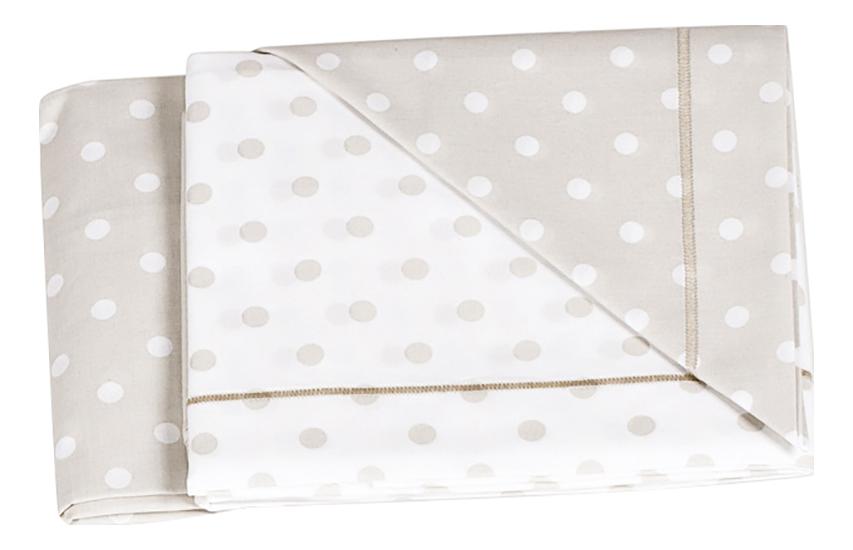 Комплект детского постельного белья Italbaby Для кровати крем/горошек