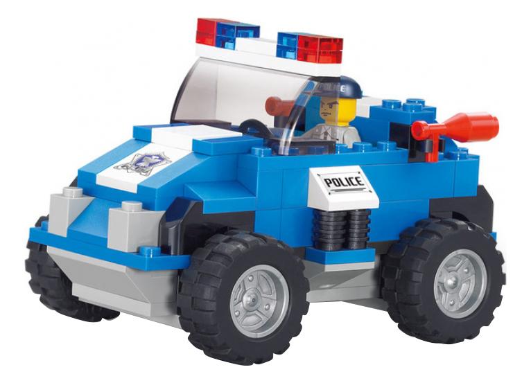 Конструктор пластиковый Sluban Полиция - Полицейский джип 121 деталь