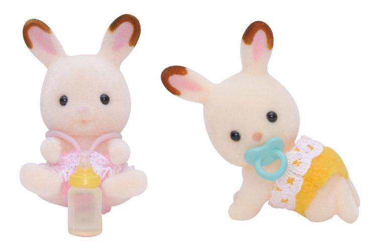 Купить Игровой набор Sylvanian Families Шоколадные Кролики-двойняшки, Игровые наборы