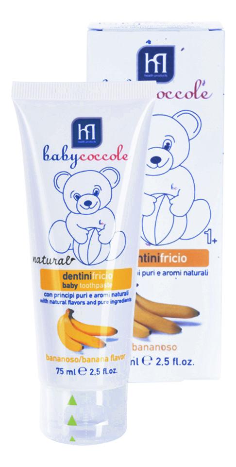 Купить Зубная паста, Детская зубная паста Babycoccole Со вкусом банана 75 мл, HP, Детские зубные пасты