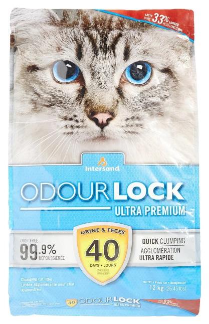 Комкующийся наполнитель для кошек Intersand Odour Lock