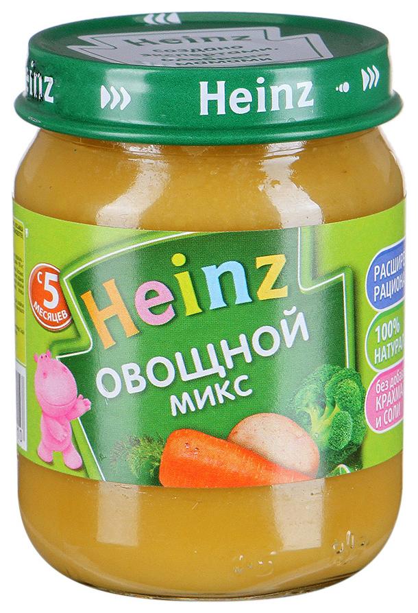 Купить Овощной микс 120 г, Пюре овощное Heinz Овощной микс с 5 месяцев 120 гр, Детское пюре