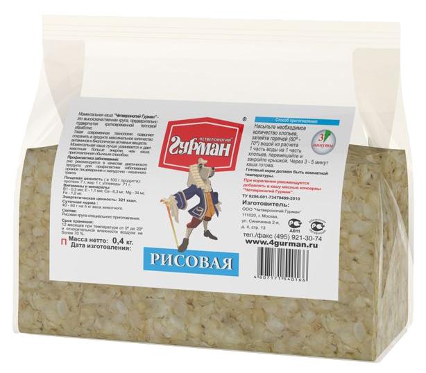 Каша для собак Четвероногий Гурман Рисовая, 0,4кг фото