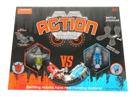 Shenzhen toys Игровой набор action battling robots с 2 роботами Shenzhen toys Б50693 фото