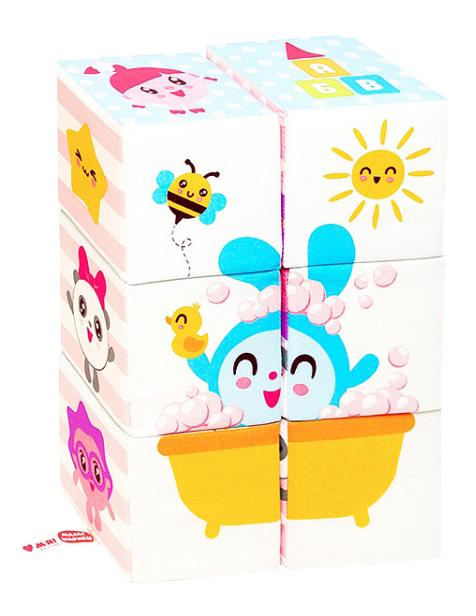 Кубики мягкие Мультики Малышарики Мякиши Р92576