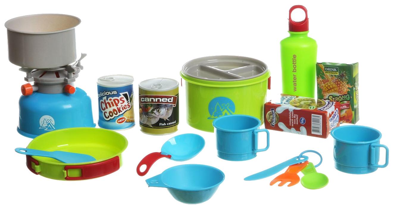 Набор посуды игрушечный Shenzhen toys для кемпинга походная кухня с рюкзаком Г53727 фото