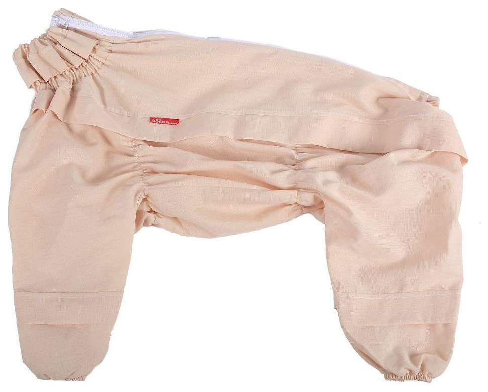 Комбинезон для собак OSSO Fashion размер XL унисекс, бежевый, длина спины 55 см