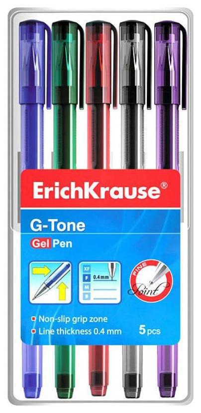 Гелевая ручка G-Tone в наборе из 5 шт. ErichKrause