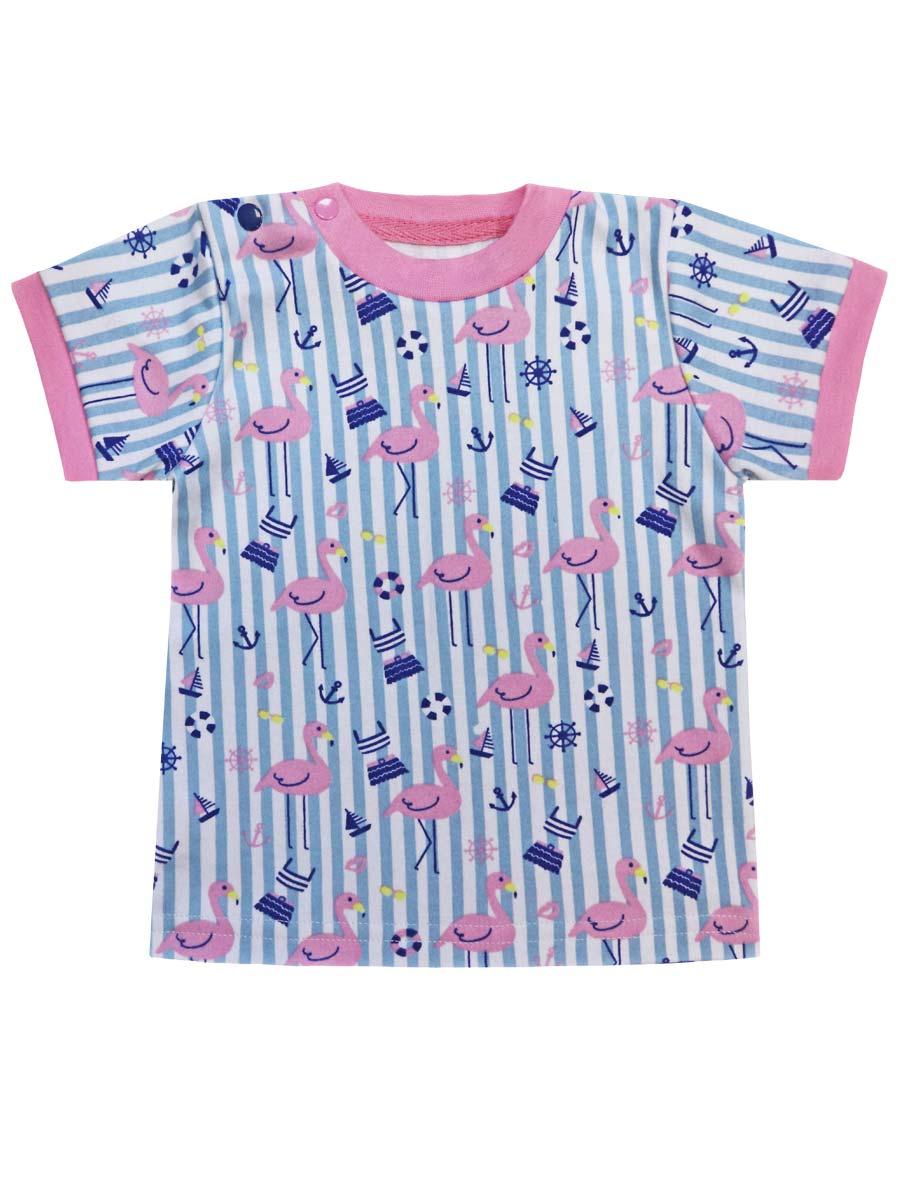 Купить 77203, Футболка Фламинго , 86 р-р, КотМарКот, Кофточки, футболки для новорожденных