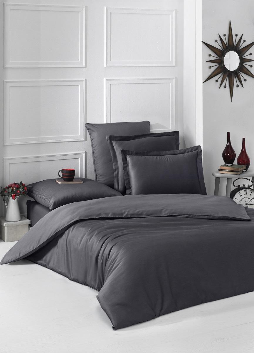 Постельное белье Karna Gaylon Цвет: Темно-Серый (2 спальное евро)