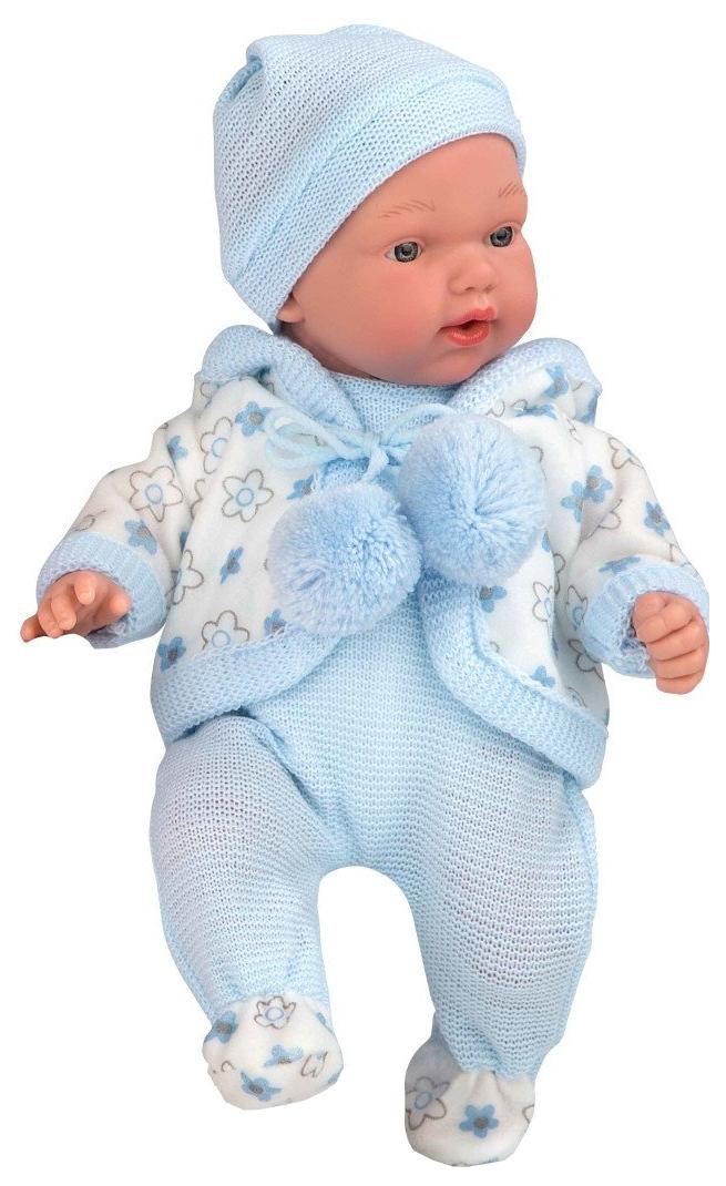 Купить Пупс Arias Elegance в голубой одежде, 28 см, арт. Т16339,