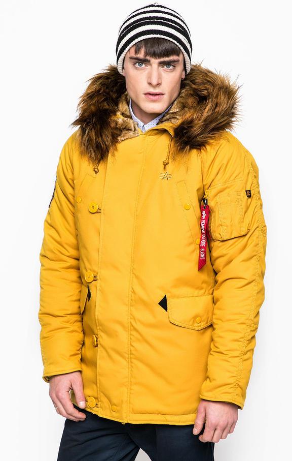 Куртка мужская Alpha Industries 193128 желтая 2XL