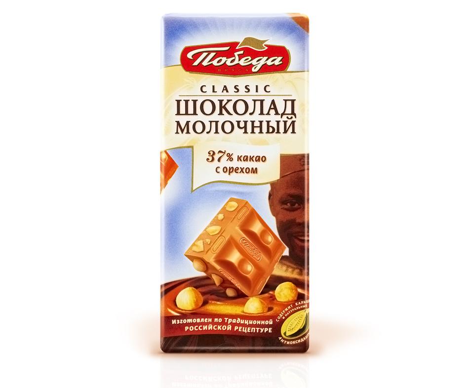 Молочный шоколад Победа Вкуса с орехом