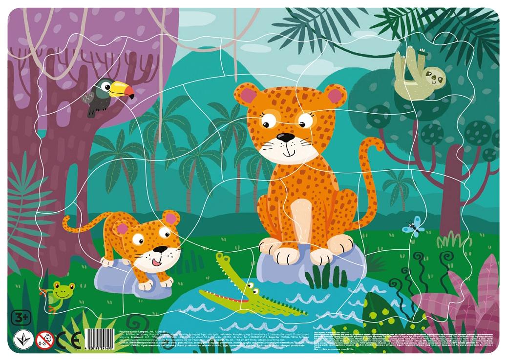 Пазл DODO R300185 Леопарды в рамке фото