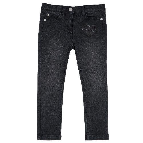 Джинсы Chicco для девочек р.104 цв.черный 9008099