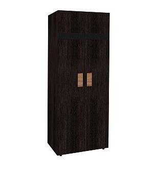 Платяной шкаф Глазов мебель Hyper 2 Hyper Шкаф для одежды 2 Венге 79,7Х40х211,3, венге фото
