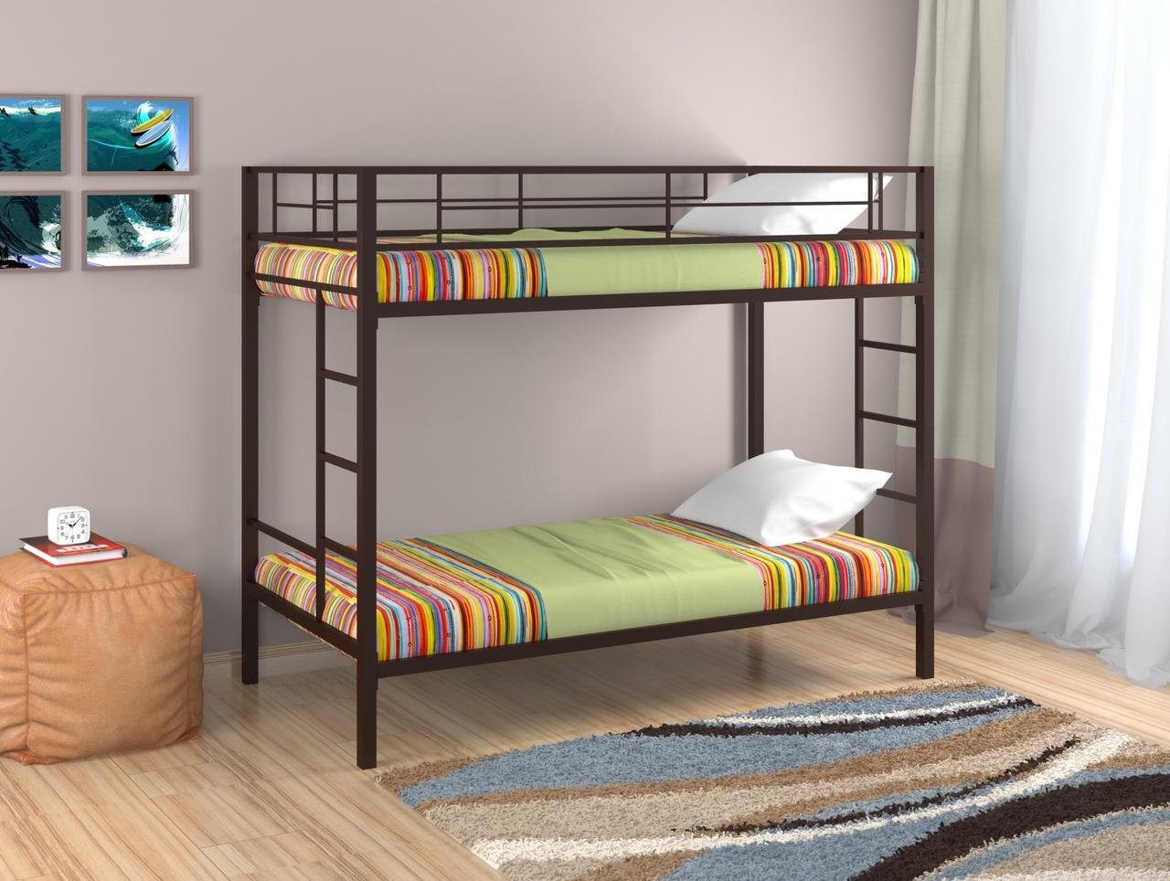 Металлическая двухъярусная кровать Redford Севилья Коричневый