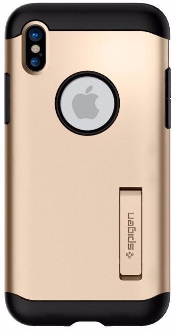 Чехол Spigen Slim Armor для Apple Apple iPhone X Champagne Gold (057CS22136)
