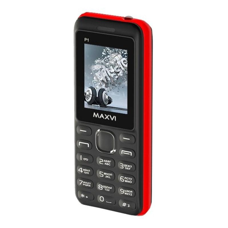 Мобильный телефон Maxvi P1 (2 SIM) Black/Red фото