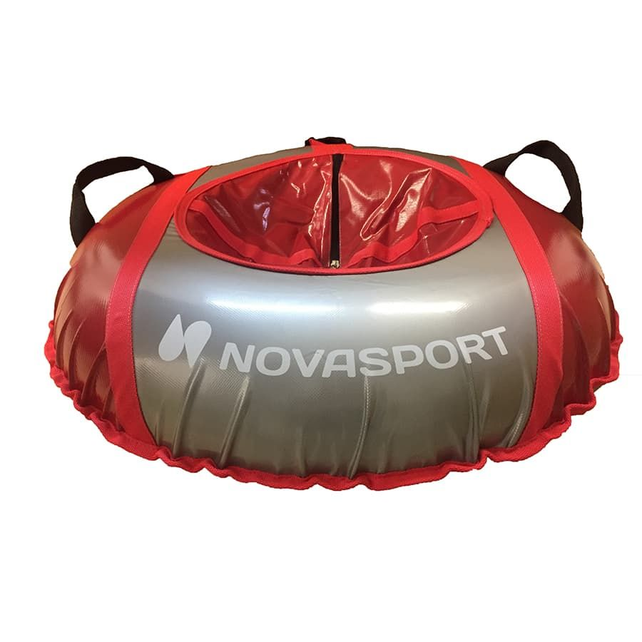 Тюбинг NovaSport 125 см усиленный тент с камерой СН051.125.3.1 красный серый