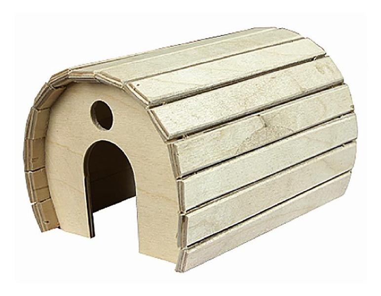 Домик для грызунов Дарэлл деревянный полукруглый, 15х12х10