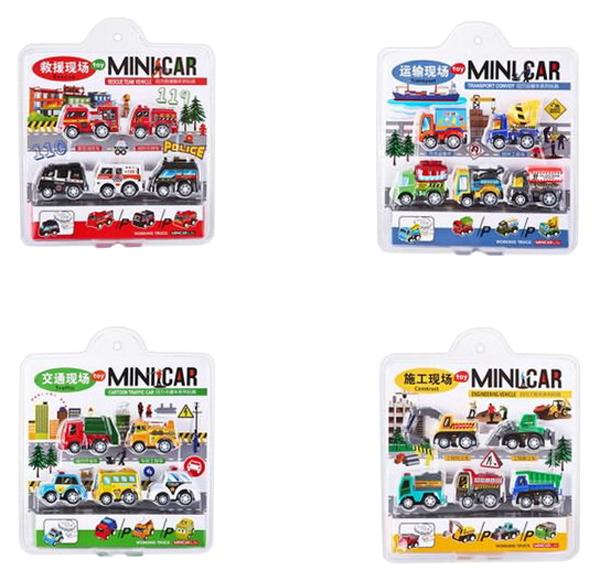 Купить Мини-машинки 5 штук, набор, , 19х22х4 см, Junfa toys, Коллекционные модели