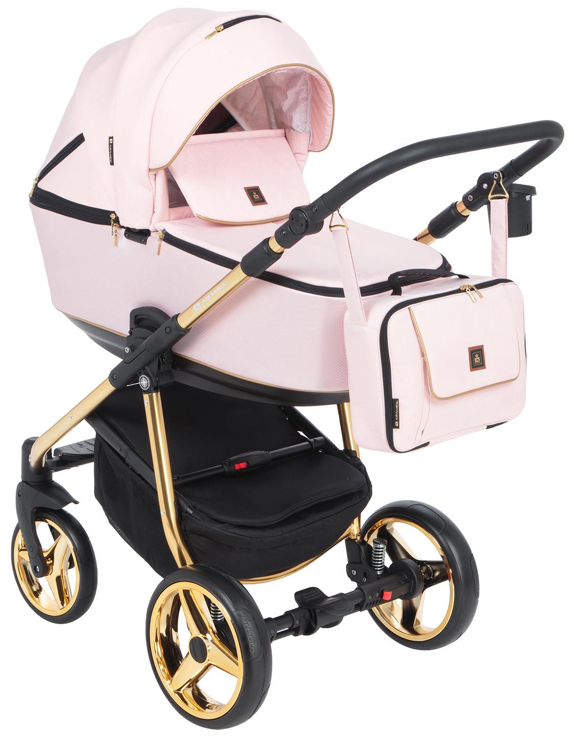 Купить Коляска 3 в 1 Adamex Barcelona special edition BR-418 цвет пудровый, Детские коляски 3 в 1