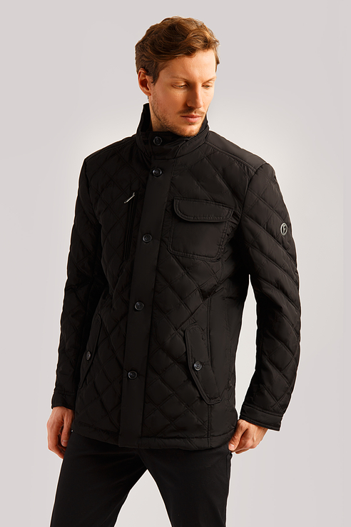 Куртка мужская Finn Flare B19-42006 черная S фото