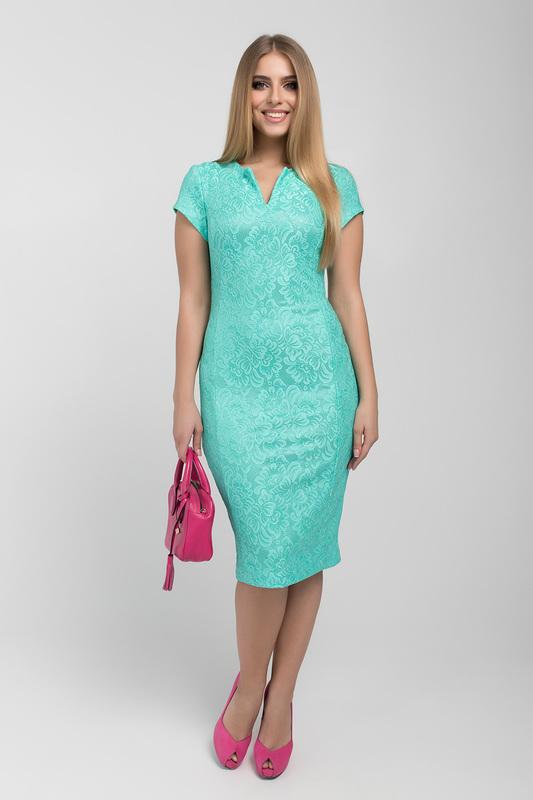 Платье женское ELISEEVA OLESYA 39351 зеленое 52 RU фото