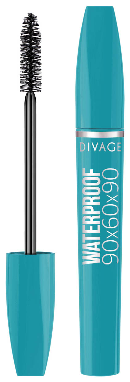 Купить Тушь для ресниц Divage 90x60x90 Waterproof 01 Black 10 мл