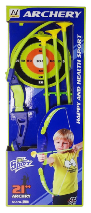 Купить Набор игрушечного оружия 1Toy Набор лучника, Лук и стрелы, мишень, 21 дюйм Т11621, 1 TOY, Луки со стрелами детские