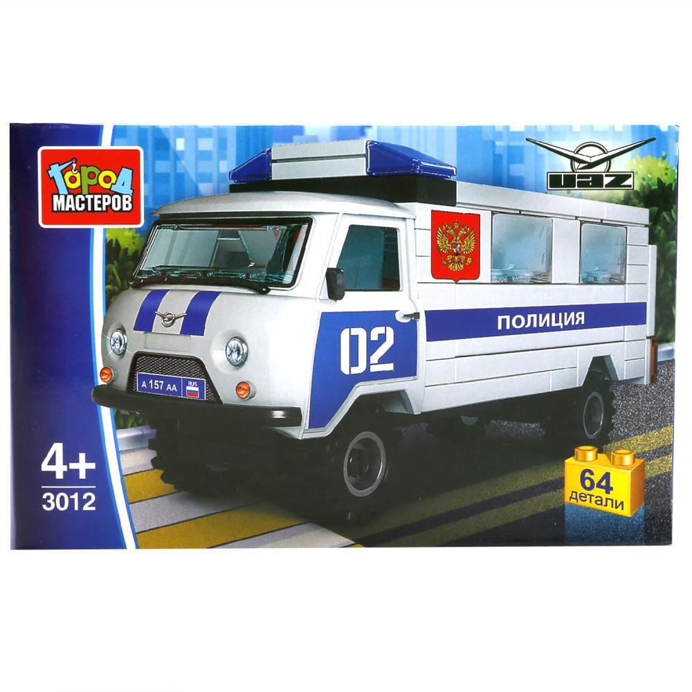 Конструктор Город Мастеров Полиция: Уаз 452, 64 дет.