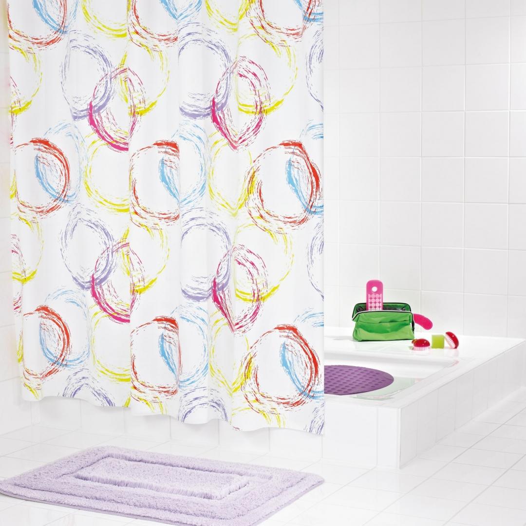 Штора для ванных комнат Party цветной 180*200
