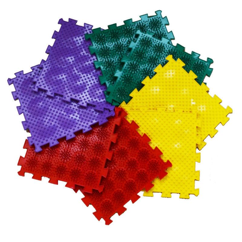 Купить Модульный коврик ЛидерПолимер Микс Ежики, Leader, Развивающие коврики и центры
