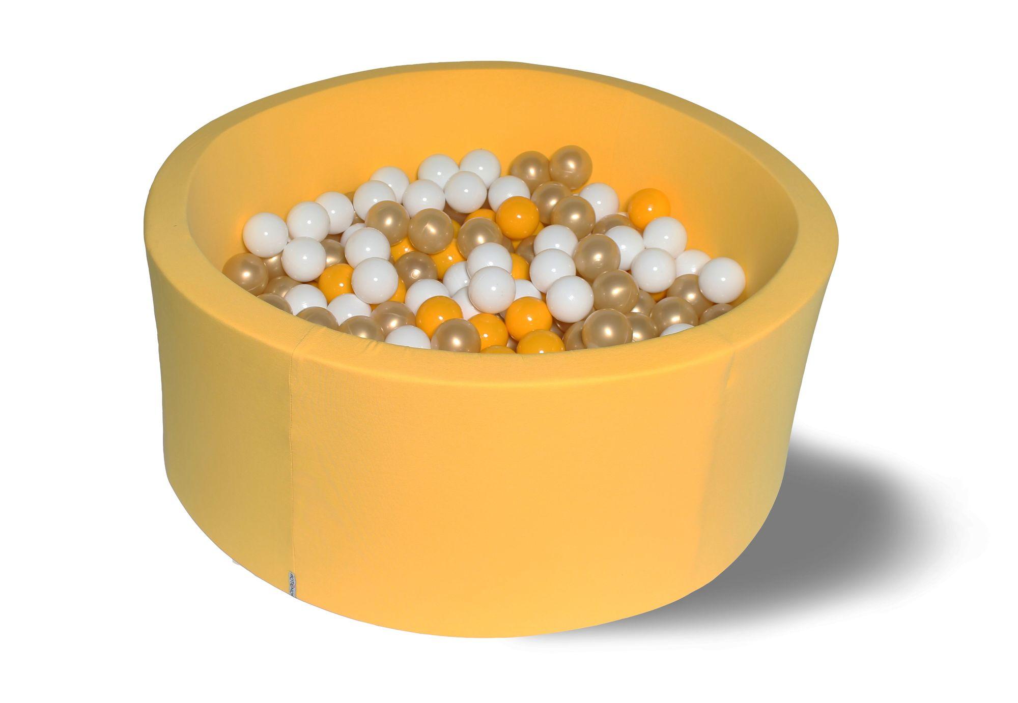Сухой игровой бассейн Премиум золото желтый 40см