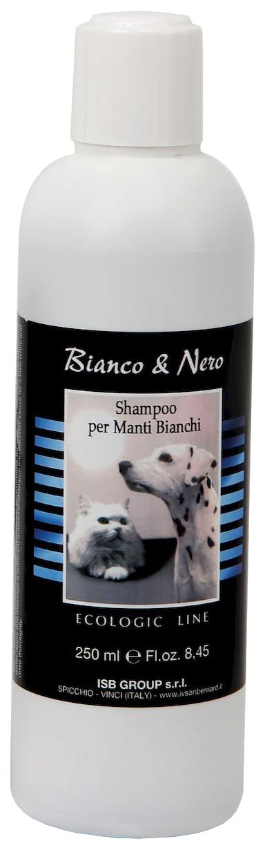 Шампунь для кошек и собак ISB Ecologic Line Black#and#White для белой шерсти, 250 мл