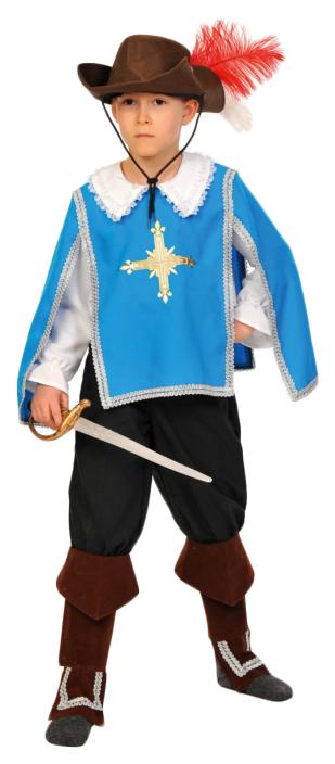 Карнавальный костюм Карнавалофф Мушкетер, цв. синий р.128
