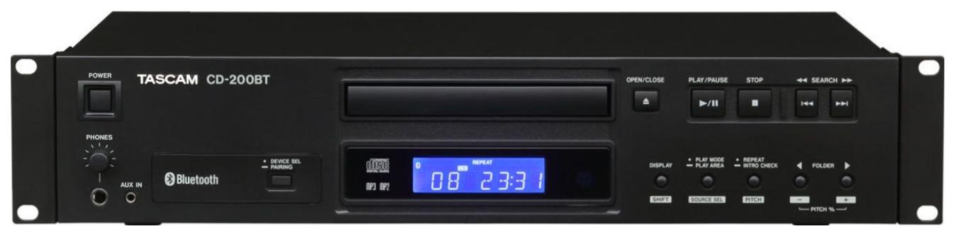 CD проигрыватель Tascam CD 200BT Black