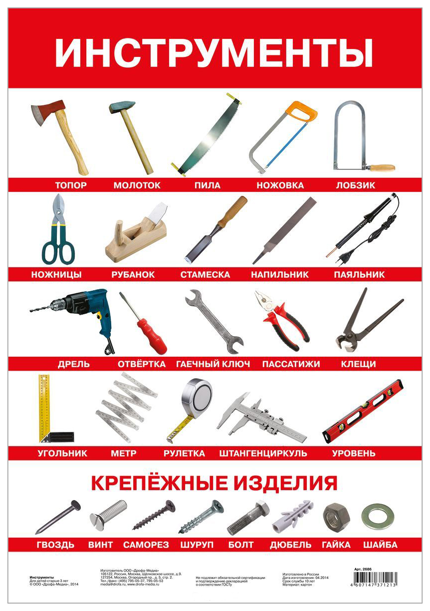 Плакат Дрофа-Медиа Инструменты