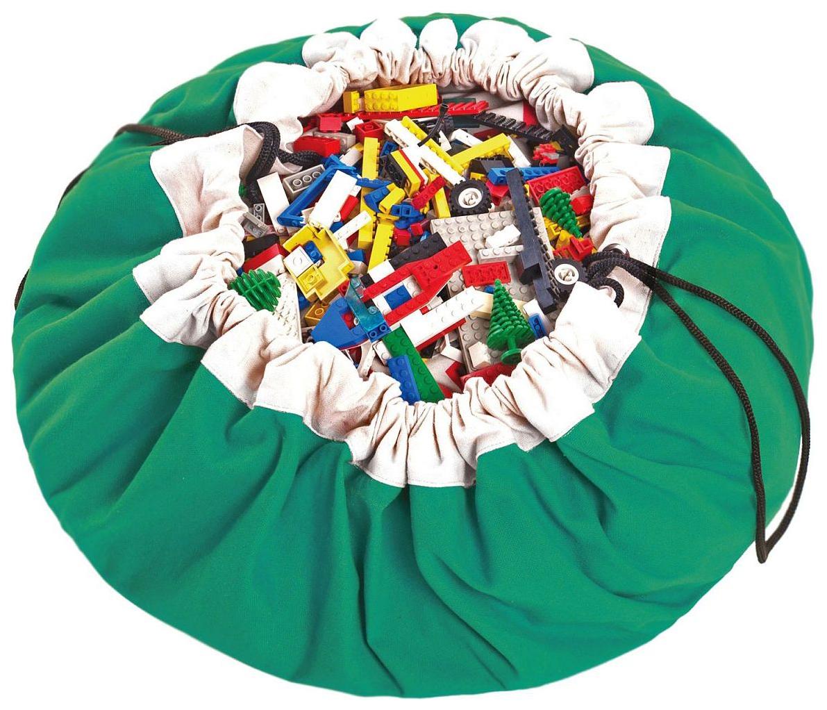 Мешок для хранения игрушек и игровой коврик 2в1 Play#and#Go Зелёный