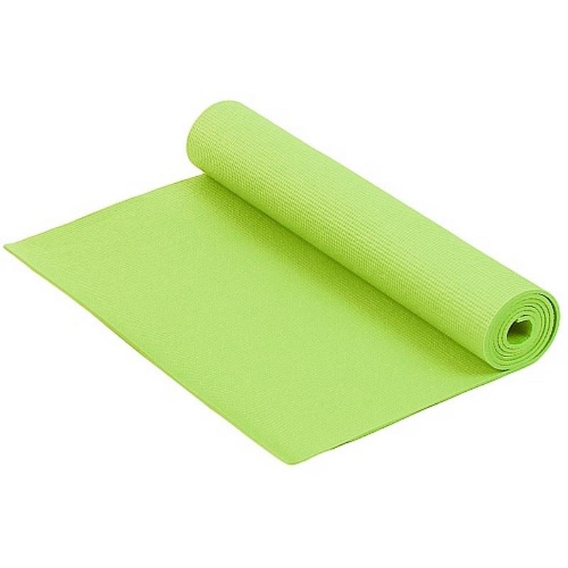 Коврик для фитнеса и йоги Larsen PVC лайм 4 мм 173 см