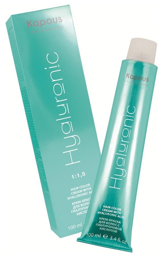 Краска для волос Kapous Professional Hyaluronic Acid 4.00 Коричневый интенсивный 100 мл