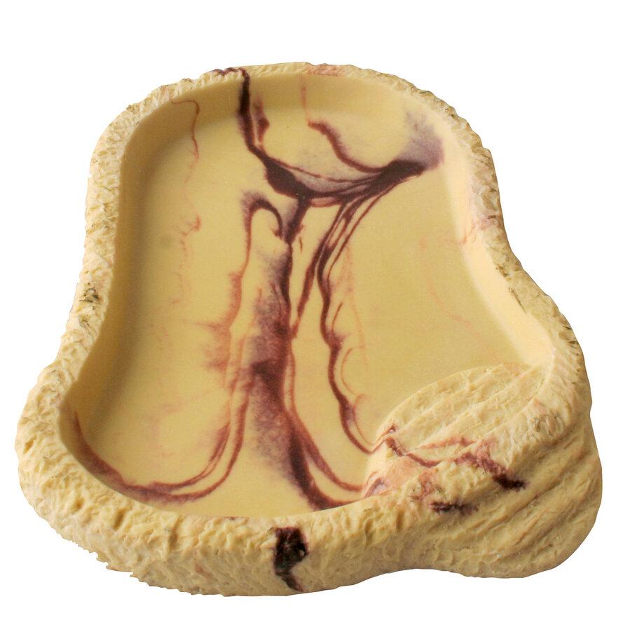 Кормушка-поилка для рептилий LUCKY REPTILE Sandstone, песочная, 28 х 22 х 3 см