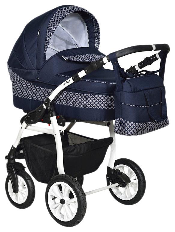 Купить Коляска 2 в 1 Indigo Sydney 17 УТ0010215 Темно-синий, Темно-синий узор, Детские коляски 2 в 1