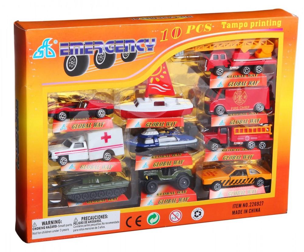 Купить Набор машинок Emergency, 10 шт, , Shantou Gepai, Наборы игрушечного транспорта